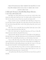 PHÂN TÍCH ĐÁNH GIÁ THỰC TRẠNG THỊ TRƯỜNG VÀ TIÊU THỤ SẢN PHẨM CHÍNH CỦA CÔNG TY XĂNG DẦU HÀNG KHÔNG VIỆT NAM