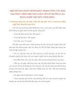 MỘT SỐ GIẢI PHÁP NHẰM HOÀN THIỆN CÔNG TÁC ĐÀO TẠO PHÁT TRIỂN ĐỘI NGŨ GIÁO VIÊN Ở TRƯỜNG CAO ĐẲNG NGHỀ VIỆT ĐỨC VĨNH PHÚC