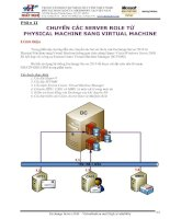 Chuyể n Physical Machine sang Virtual Mac hine