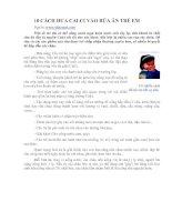 10 CÁCH ĐƯA CALCI VÀO BỮA ĂN TRẺ EM