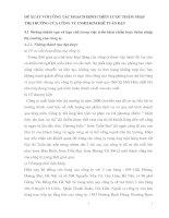 ĐỀ XUẤT VỚI CÔNG TÁC HOẠCH ĐỊNH CHIẾN LƯỢC THÂM NHẬP THỊ TRƯỜNG CỦA CÔNG TY TNHH KIM KHÍ TUẤN ĐẠT