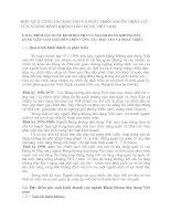 HIỆU QUẢ CÔNG TÁC ĐÀO TẠO VÀ PHÁT TRIỂN NGUỒN NHÂN LỰC CỦA NGÀNH HÀNG KHÔNG DÂN DỤNG VIỆT NAM.