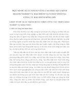 MỘT SỐ ĐỀ XUẤT NHẮM NÂNG CAO HIỆU QUẢ KINH DOANH NGHIỆP VỤ BẢO HIỂM VẬT CHẤT ÔTÔ TẠI CÔNG TY BẢO HIỂM ĐÔNG ĐÔ