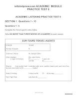 ACADEMIC PRATICE TEST 8 FOR IELTS