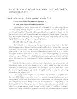 CƠ SỞ LÝ LUẬN VÀ SỰ CẦN THIẾT PHẢI PHÁT TRIỂN NGÀNH CÔNG NGHIỆP Ô TÔ