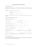 Cooking in the Field 1 - Worksheet
