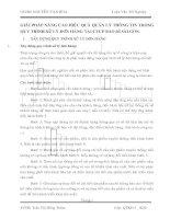 GIẢI PHÁP NÂNG CAO HIỆU QUẢ QUẢN LÝ THÔNG TIN TRONG QUY TRÌNH XỬ LÝ ĐƠN HÀNG TẠI CTCP BAO BÌ SÀI GÒN