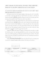 THỰC TRẠNG VỀ XÂY DỰNG, TỔ CHỨC THỰC HIỆN KẾ HOẠCH VÀ CHƯƠNG TRÌNH SẢN XUẤT SẢN PHẨM