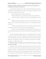 ĐÁNH GIÁ THỰC TRẠNG TỔ CHỨC KẾ TOÁN TẠI CÔNG TY CỔ PHẦN TẬP ĐOÀN THÁI HÒA