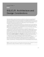 SQLCLR - Architecture and Design Considerations