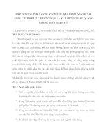 MỘT SỐ GIẢI PHÁP NÂNG CAO HIỆU QUẢ KINH DOANH TẠI CÔNG TY TNHH IN THƯƠNG MẠI VÀ XÂY DỰNG NHẬT QUANG TRONG THỜI GIAN TỚI