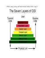Phần cứng trong mô hình tham chiếu OSI: Lớp 3