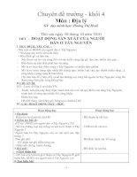 Chuyên đề địa lý lớp 4 - HĐSX của người dân ở TN