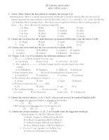 Đề Thi học sinh Giỏi Anh văn 9