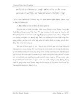 PHÂN TÍCH TÌNH HÌNH HOẠT ĐỘNG SẢN XUẤT KINH DOANH CỦA CÔNG TY CỔ PHẦN MAY THĂNG LONG