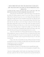 HOÀN THIỆN KẾ TOÁN TIÊU THỤ HÀNG HOÁ VÀ KẾT QUẢ            TIÊU THỤ HÀNG HOÁ TẠI CÔNG TY TRÁCH NHIỆM HỮU HẠN ĐÔNG TÂY