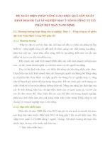 ĐỀ XUẤT BIỆN PHÁP NÂNG CAO HIỆU QUẢ SẢN XUẤT KINH DOANH TẠI XÍ NGHIỆP MAY 2 TỔNG CÔNG TY CỔ PHẦN DỆT MAY NAM ĐỊNH
