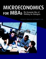 Microeconomics for MBAs 1