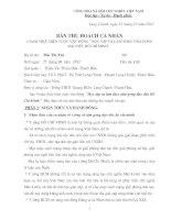 BAN THU HOACH CA NHAN (4 NAM THUC HIEN CUOC VAN DONG)