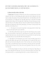 DUY TRÌ VÀ MỞ RỘNG THỊ TRƯỜNG TIÊU THỤ SẢN PHẨM CỦA DOANH NGHIỆP TRONG CƠ CHẾ THỊ TRƯỜNG