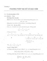 Phương pháp đại số và đạo hàm