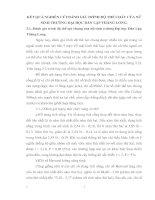 KẾT QUẢ NGHIÊN CỨUĐÁNH GIÁ TRÌNH ĐỘ THỂ CHẤT CỦA NỮ SINH TRƯỜNG ĐẠI HỌC DÂN LẬP THĂNG LONG