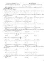 Bài kiểm tra 1 tiết chương II Đại số và giait ích 11 NC