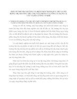 MỘT SỐ PHƯƠNG HƯỚNG VÀ BIỆN PHÁP NHẰM DUY TRÌ VÀ MỞ RỘNG THỊ TRƯỜNG TIÊU THỤ SẢN PHẨM CỦA CÔNG TY DỤNG CỤ CẮT VÀ ĐO LƯỜNG CƠ KHÍ