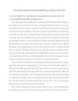 LÝ LUẬN CHUNG VỀ BẢO HIỂM VẬT CHẤT XE Ô TÔ