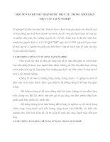 MỘT SỐ VẤN ĐỀ THU NHẬN ĐƯỢC THỰC TẾ  TRONG THỜI GIAN THỰC TẬP TẠI XÍ NGHIỆP