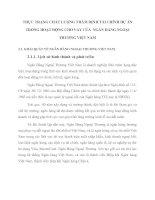 THỰC TRẠNG CHẤT LƯỢNG THẨM ĐỊNH TÀI CHÍNH DỰ ÁN TRONG HOẠT ĐỘNG CHO VAY CỦA  NGÂN HÀNG NGOẠI THƯƠNG VIỆT NAM