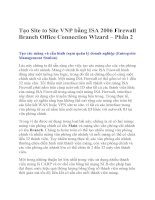 Site VNP bang ISA 2006 Firewall Branch Office Connection Wizard 3