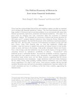 The Political Economy of Distress in East Asian Financial Institutions