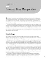 Date and Time Manipulation
