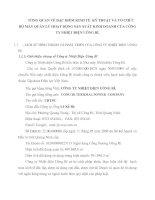 TỔNG QUAN VỀ ĐẶC ĐIỂM KINH TẾ  KỸ THUẬT VÀ TỔ CHỨC BỘ MÁY QUẢN LÝ HOẠT ĐỘNG SẢN XUẤT KINH DOANH CỦA CÔNG TY NHIỆT ĐIỆN UÔNG BÍ