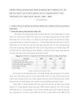 PHÂN TÍCH, ĐÁNH GIÁ HOẠT ĐỘNG HUY ĐỘNG VÀ  SỬ DỤNG VỐN TẠI NGÂN HÀNG XUẤT NHẬP KHẨU CHI NHÁNH CẦN THƠ GIAI  ĐOẠN  2003 - 2005