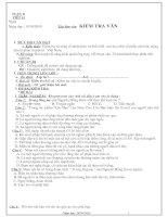 Giáo án ngữ văn 8 - tuần 11