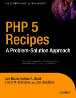 PHP 5 Recipes A Problem-Solution Approach