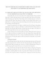 MỘT SỐ Ý KIẾN ĐỀ XUẤT NHẰM HOÀN THIỆN CÔNG TÁC KẾ TOÁN BÁN HÀNG VÀ XÁC ĐỊNH KẾT QUẢ BÁN HÀNG