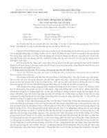Báo cáo thu hoạch 4 năm
