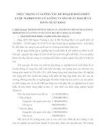 THỰC TRẠNG CỦA CÔNG TÁC KẾ HOẠCH HOÁ CHIẾN LƯỢC MARKETING CỦA CÔNG TY SẢN XUẤT BAO BÌ VÀ HÀNG XUẤT KHẨU