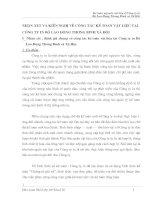NHẬN XÉT VÀ KIẾN NGHỊ VỀ CÔNG TÁC KẾ TOÁN VẬT LIỆU TẠI CÔNG TY IN BỘ LAO ĐỘNG THƯƠNG BINH XÃ HỘI
