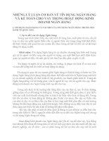 NHỮNG LÝ LUẬN CƠ BẢN VỀ TÍN DỤNG NGÂN HÀNG VÀ KẾ TOÁN CHO VAY TRONG HOẠT ĐỘNG KINH DOANH NGÂN HÀNG