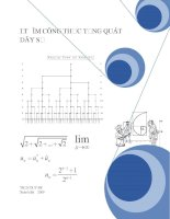 Kiến thức và bài tập tìm công thức tổng quát cảu dãy số
