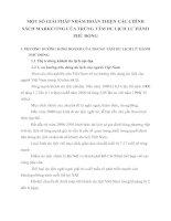 MỘT SỐ GIẢI PHÁP NHẮM HOÀN THIỆN CÁC CHÍNH SÁCH MARKETING CỦA TRÙNG TÂM DU LỊCH LƯ HÀNH PHÙ ĐỔNG