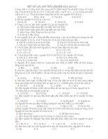 Một số câu hỏi trắc nghiệm hóa học hay