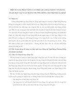 MỘT SỐ GIẢI PHÁP NÂNG CAO HIỆU QUẢ HOẠT ĐỘNG TÍN DỤNG NGẮN HẠN TẠI NGÂN HÀNG PHƯƠNG ĐÔNG CHI NHÁNH GIA ĐỊNH