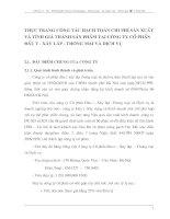 THỰC TRẠNG CÔNG TÁC HẠCH TOÁN CHI PHÍ SẢN XUẤT VÀ TÍNH GIÁ THÀNH SẢN PHẨM TẠI CÔNG TY CỔ PHẦN ĐẦU TƯ - XÂY LẮP - THƯƠNG MẠI VÀ DỊCH VỤ