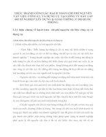 THỰC TRẠNH CÔNGTÁC HẠCH TOÁN CHI PHÍ NGUYÊN VẬT LIỆU CÔNG CỤ VÀ DỤNG CỤ TẠI CÔNG TY XÂY LẮP 665 XÍ NGHIỆP XÂY DỰNG