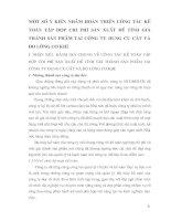 MỘT SỐ Ý KIẾN NHẰM HOÀN THIỆN CÔNG TÁC KẾ TOÁN TẬP HỢP CHI PHÍ SẢN XUẤT ĐỂ TÍNH GIÁ THÀNH SẢN PHẨM TẠI CÔNG TY DỤNG CỤ CẮT VÀ ĐO LƯỜNG CƠ KHÍ